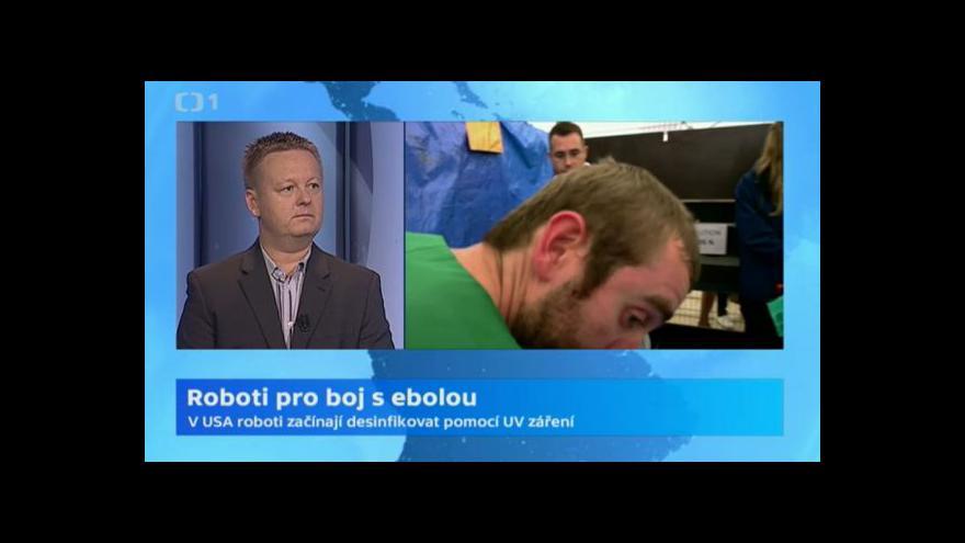 Video Primář Petr Štádler: Roboti jsou cestou v boji s ebolou