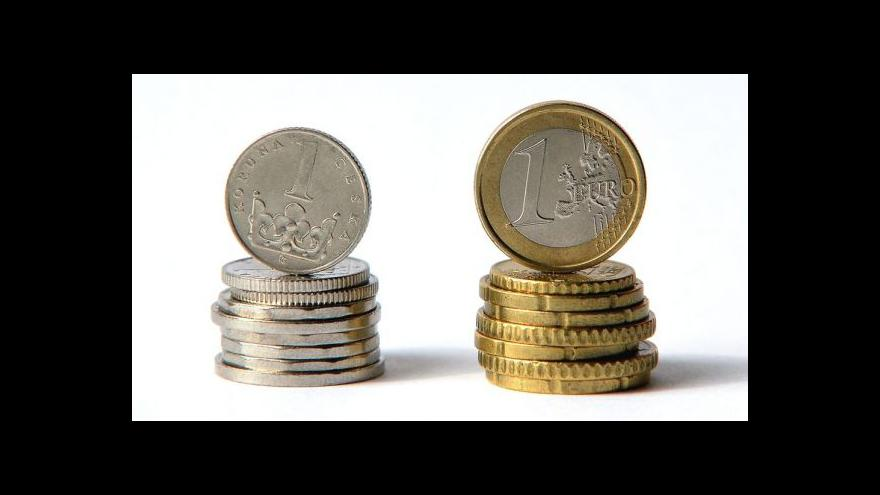 Video Intervence vůči kurzu koruny přetrvává, koupěschopnost Čechů klesá