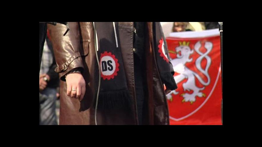 Video Nástupkyně Dělnické strany na radnici Duchcova