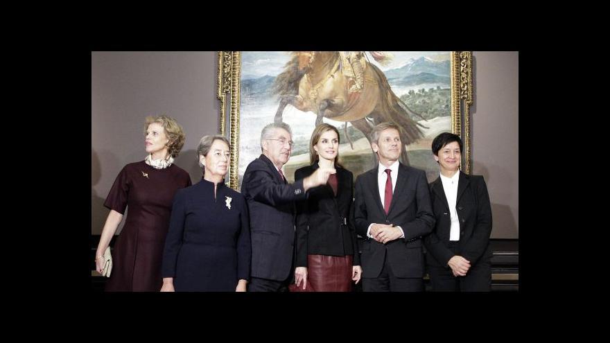 Video Diego Velázquez poprvé vystavuje v německy mluvících zemích
