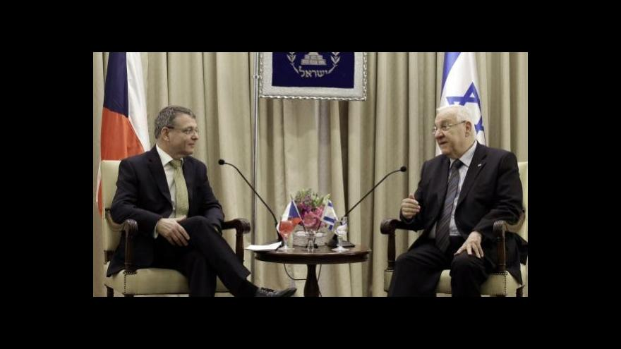 Video Zpravodaj ČT: Izraelcům se po ministrových slovech ulevilo