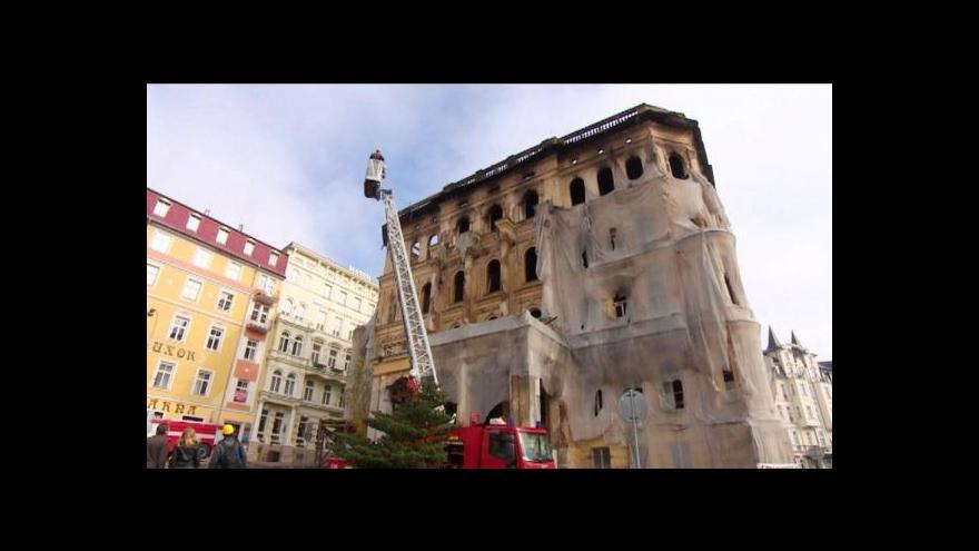 Video Vyšetřování požáru hotelu v Mariánských Lázních