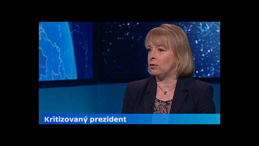 Video Marvanová: Zeman se změnil k horšímu