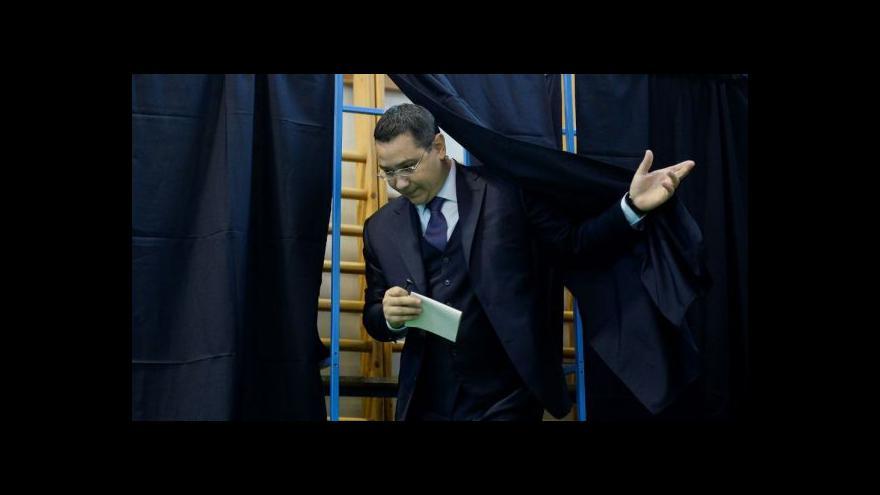 Video První kolo rumunských prezidentských voleb vyhrál premiér Ponta