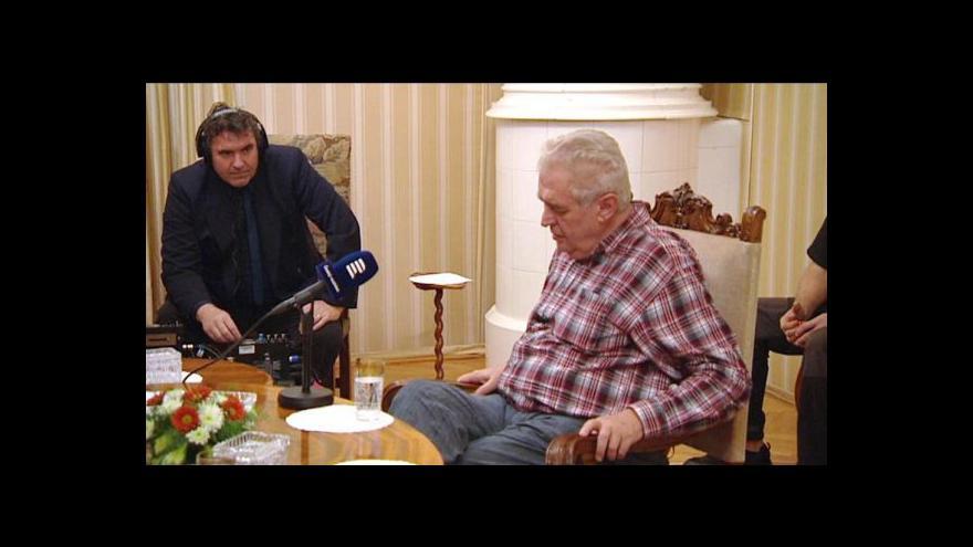 Video Zeman odmítl kritiku, o lidských právech prý v Číně mluvil