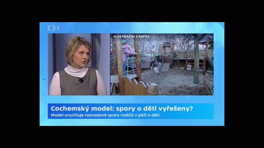 Video Markéta Nováková: V Cochemském modelu se rodiče dohodnou do dvou měsíců