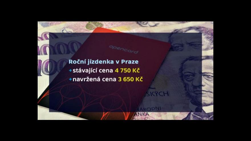 Video Levnější roční  jízdné v Praze?