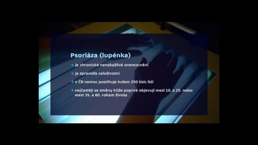 Video Hercogová: Lupénka je dnes civilizační nemoc