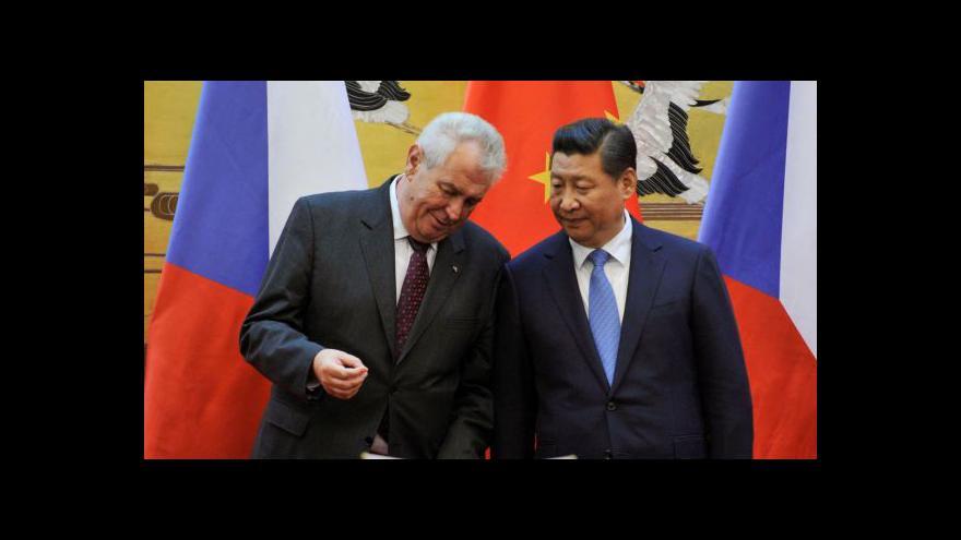 Video Kontroverzní cesta prezidenta do Číny