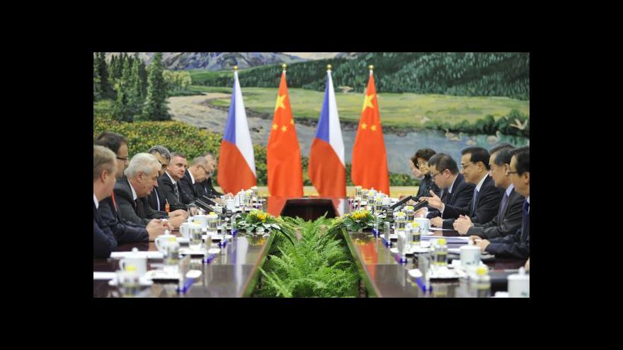 Video Události: Vrchol prezidentovy návštěvy Číny