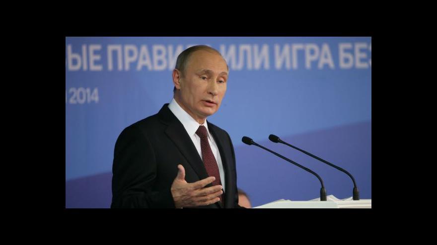 Video Horizont: Ostrý projev Putina v Soči