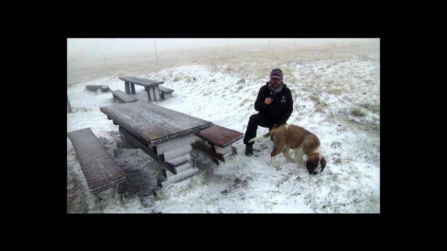 Video Na horách se přihlásila o slovo zima