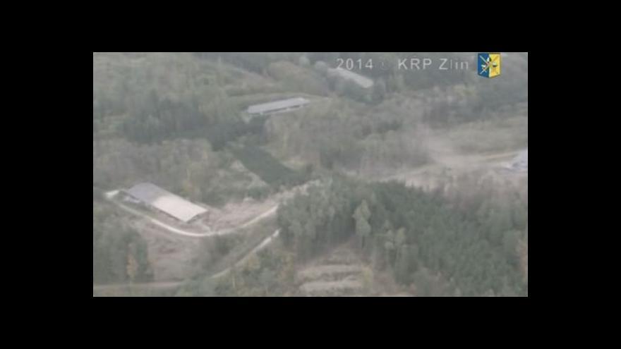 Video Policejní záběry exploze muničního skladu na Zlínsku