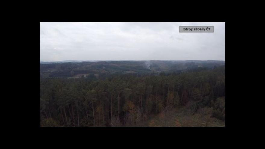 Video Letecké záběry ČT nad skladem munice ve Vlachovicích Vrběticích