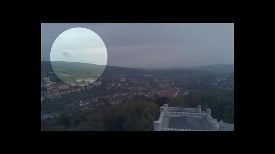 Video Výbuch ve Vrběticích zachytily veřejné kamery v okolí