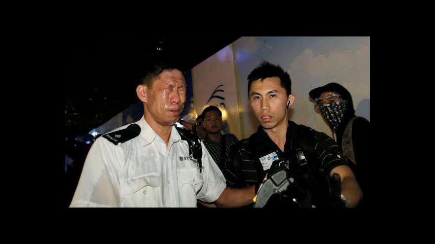 Video Další zásah policie v Hongkongu