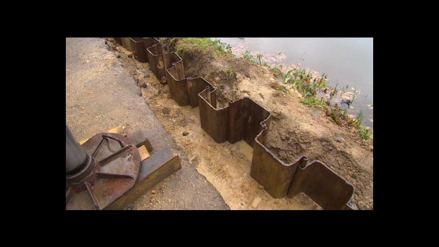 Video Oprava hráze rybníka Tajch