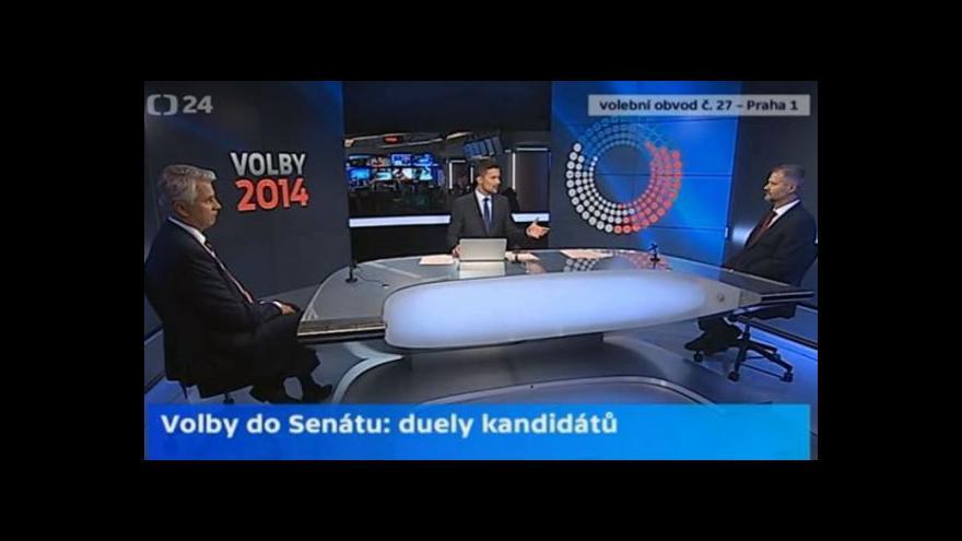 Video Praha 1: Senátní duel Václava Hampla a Zdeňka Schwarze
