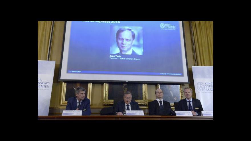 Video Nobelova cena za ekonomii tentokrát pro Evropana