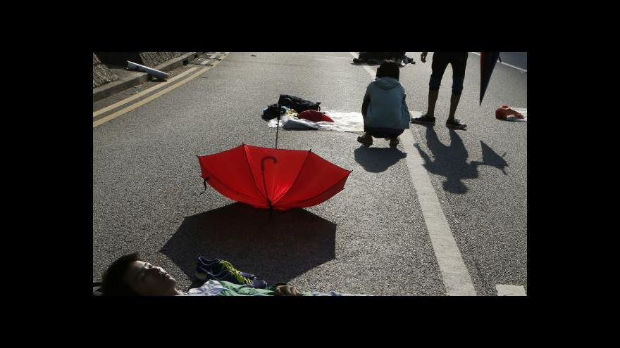 Video Protesty v Hongkongu opět na scéně