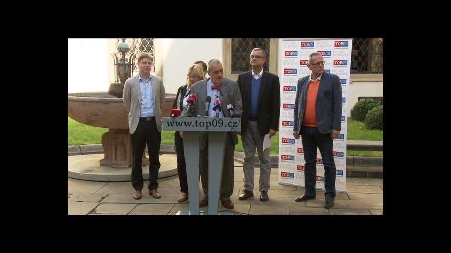 Video TOP 09 vyzvala k podpoře senátorů ODS