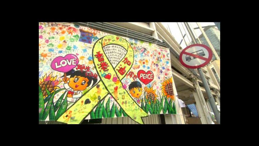 Video Hongkong se proměnil v jedno umělecké dílo