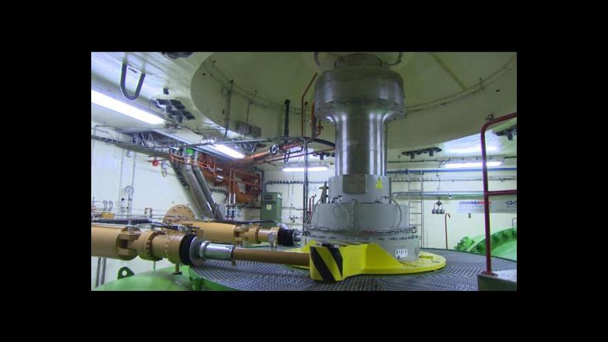 Video Spuštění turbíny v lipenské elektrárně