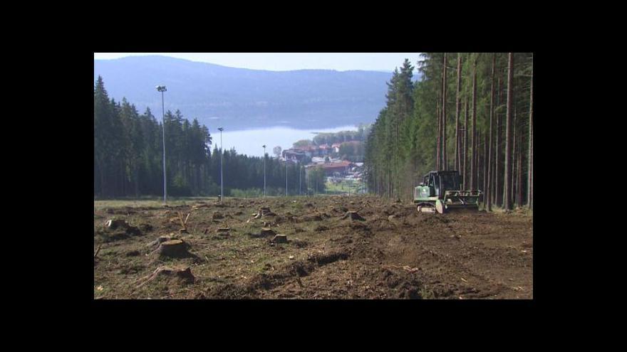 Video Lipenský lyžařský areál rozšiřuje hlavní sjezdovku