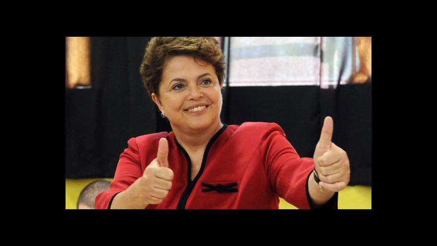 Video První kolo brazilských voleb vyhrála Rousseffová