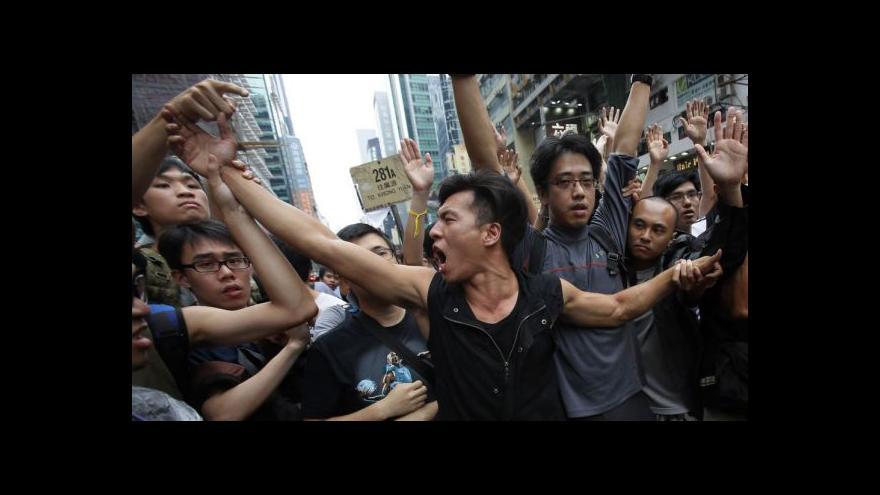 Video EXKLUZIVNĚ: V Hongkongu přibývá útoků na protestující studenty