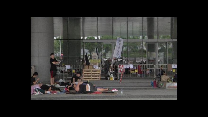 Video Zpravodajka ČT: Lidé se bojí, že chce Peking situaci vyhrotit