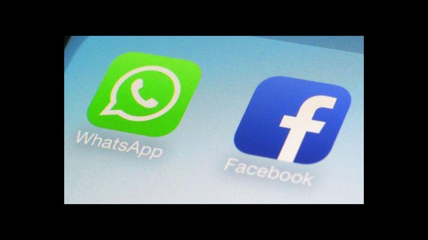 Video Ekonomika ČT24: Facebook přebírá WhatsApp
