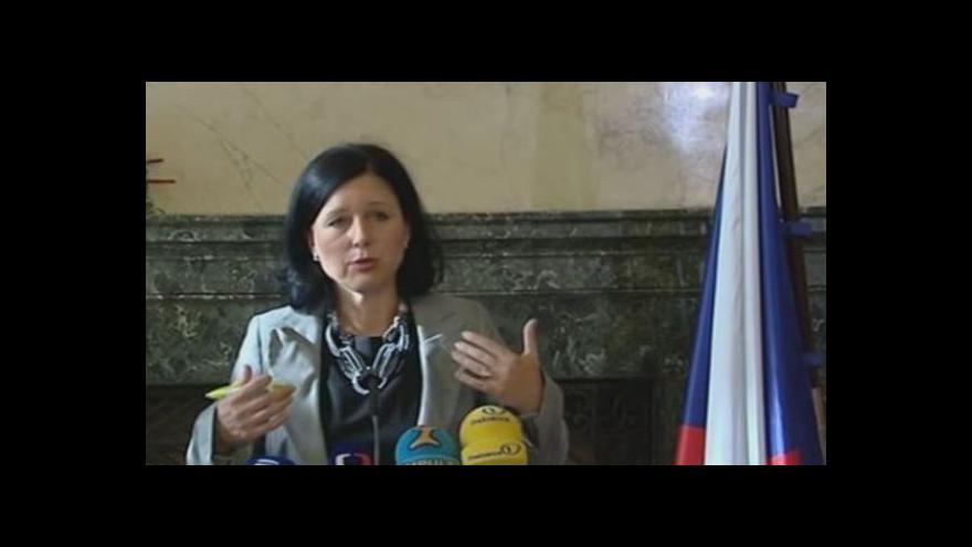Video Tisková konference odcházející ministryně Věry Jourové