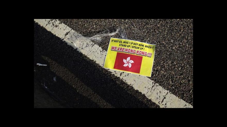 Video Zpravodajka ČT v Číně: Blokáda úřadů je kontroverzní i mezi lidmi