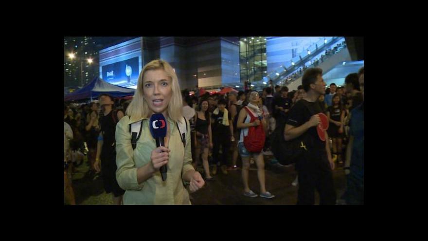 Video EXKLUZIVNĚ: Den uprostřed hongkongské bouře lidu