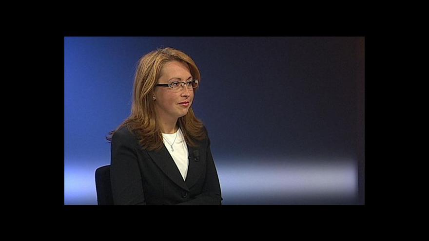Video Ivana Cabrnochová hostem vysílání ČT24