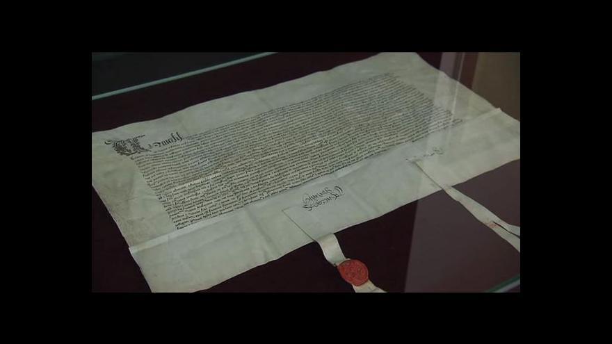 Video Výstava mírové smlouvy Jiřího z Poděbrad