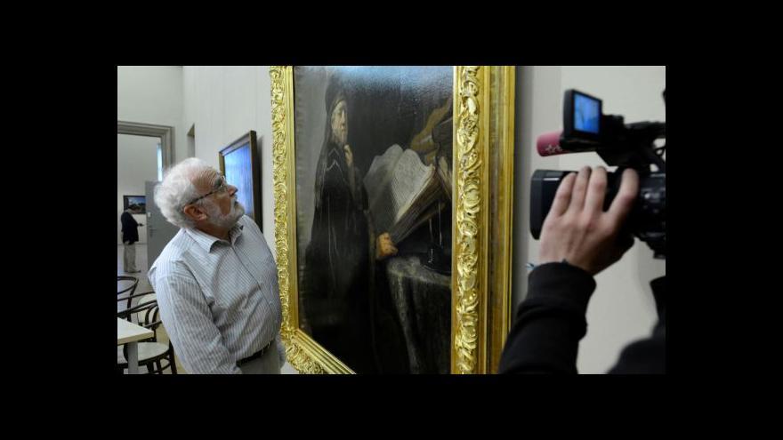 Video Vít Vlnas: Restaurování Rembrandta navazuje na výstavu NG