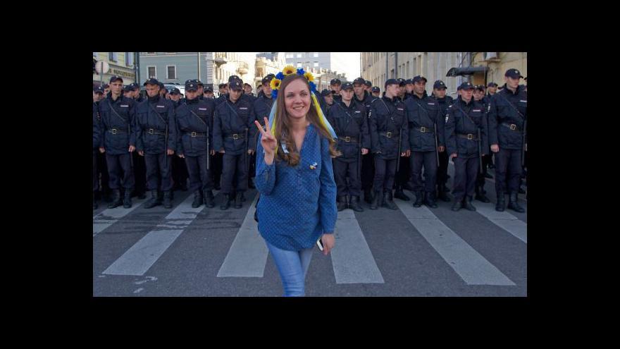Video V Rusku se demonstrovalo proti válce na Ukrajině