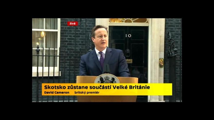 Video Cameron: Udrželi jsme zemi složenou ze čtyř národů pohromadě