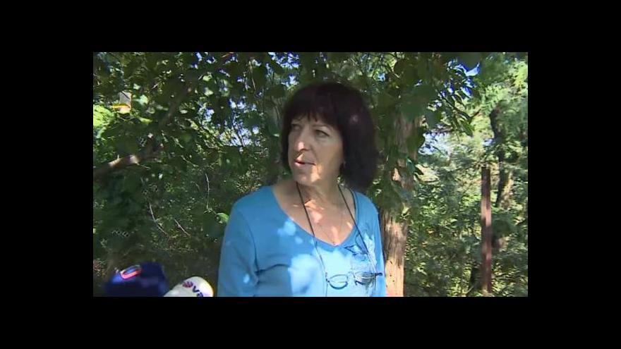Video O sesuvu svahu hovoří evakuovaná Alena Budlanská