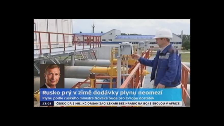 Video Jiří Gavor: Rusko prý v zimě dodávky plynu neomezí