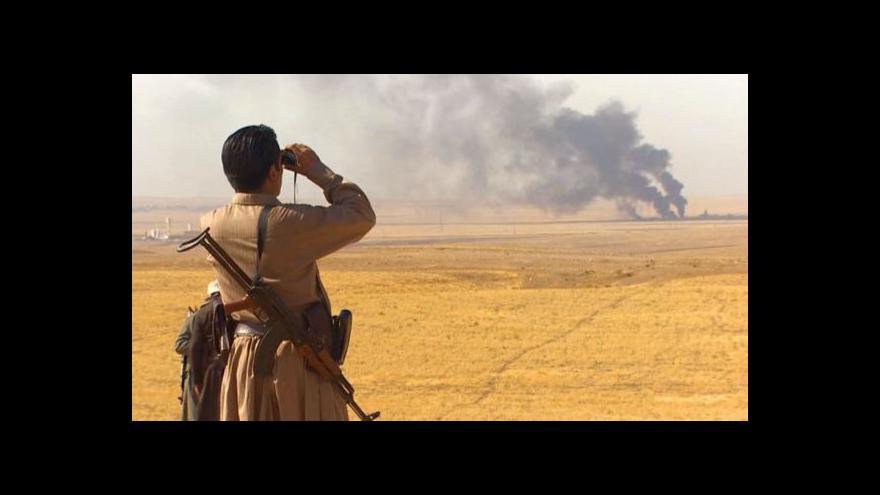 Video Kurdové díky náletům znovu zabírají území obsazená IS