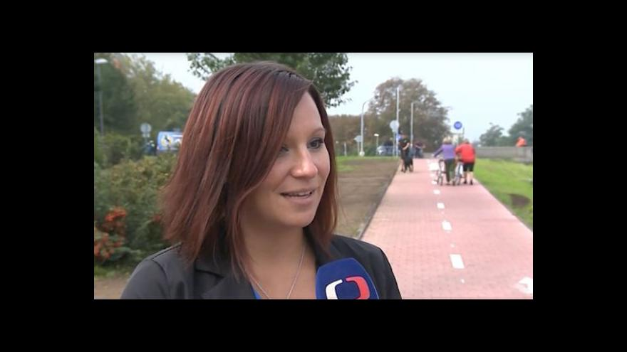 Video O cyklostezce hovoří otrokovická mluvčí Lenka Vaculová