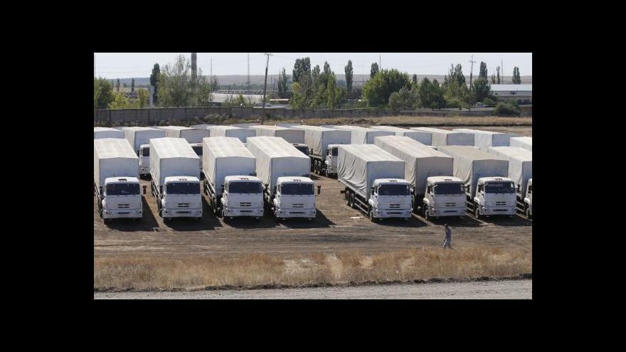 Video Další kontroverzní konvoj dorazil do Luhansku