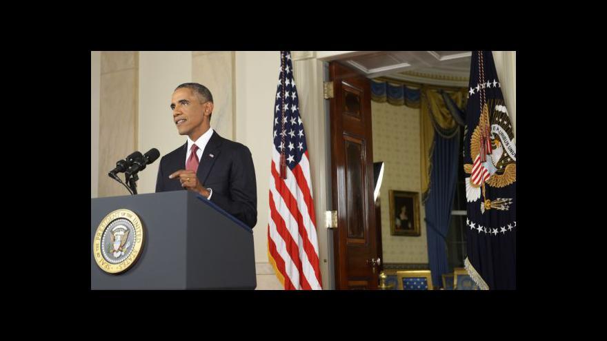 Video Obama promluvil o úderech proti IS