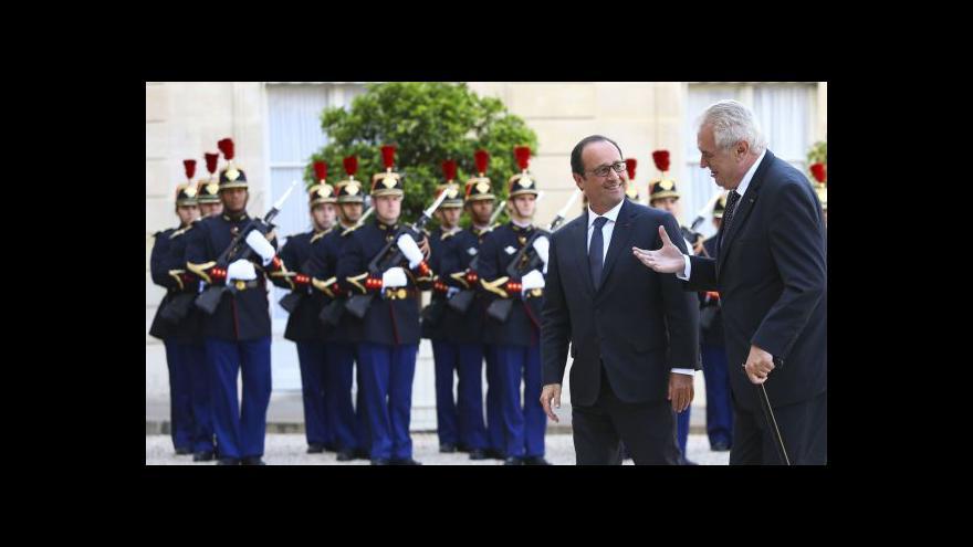Video Zeman chce znovu rozproudit vztahy s Francií