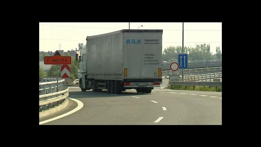 Video Na problematické mosty v Ostravě nesmí kamiony