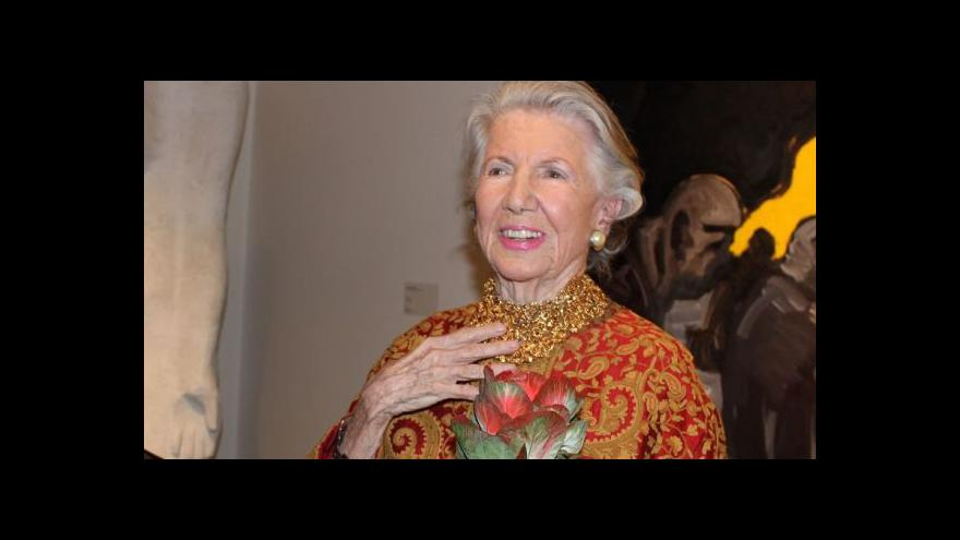 Video Meda Mládková: Muzeum jsem otevřela ve vzpomínce na manžela