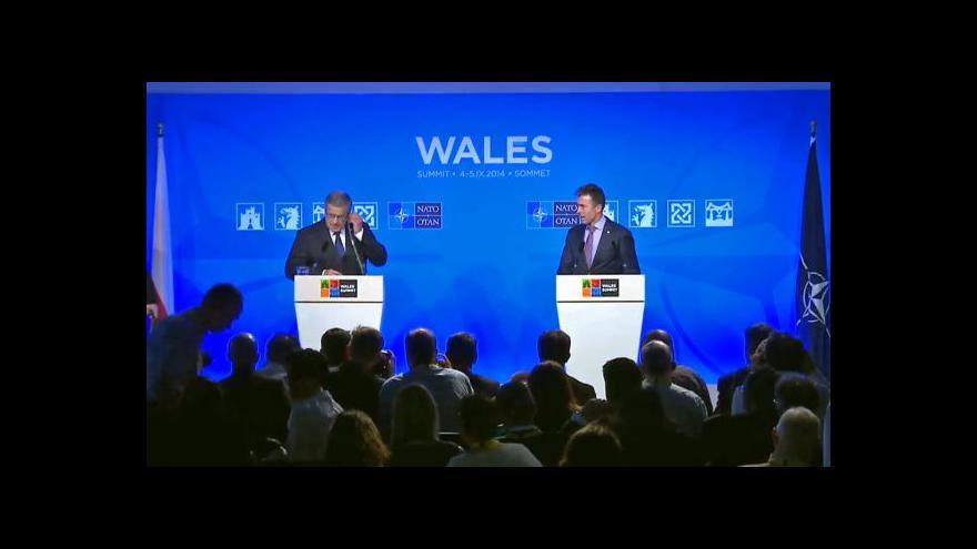 Video Rasmussen na summitu NATO: Nové síly budou schopny tvrdě zasáhnout